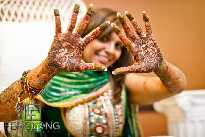 Bride's Henna Hands   Shamz & Sana's Wedding Day 1   Hyatt Place Atlanta Airport South   Atlanta Indian Photographer