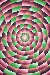 spiral-radial pattern