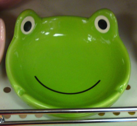 Frog cigarette tray