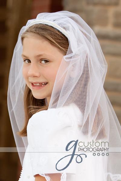 Jordan's Communion portrait by g Custom Photography Ashburn Child Photographer
