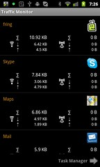 android 3g data traffic app