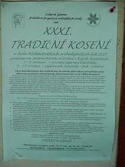 Kosení event poster