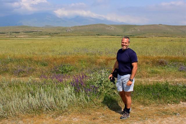 Les champs autour de Karahunj, Arménie