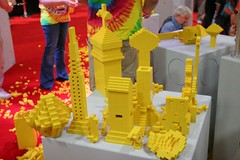 User created models at the LEGO booth - San Diego Comic Con - 8
