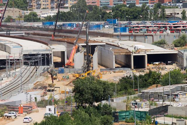Vista de los viales de Sant Andreu - 27-07-11