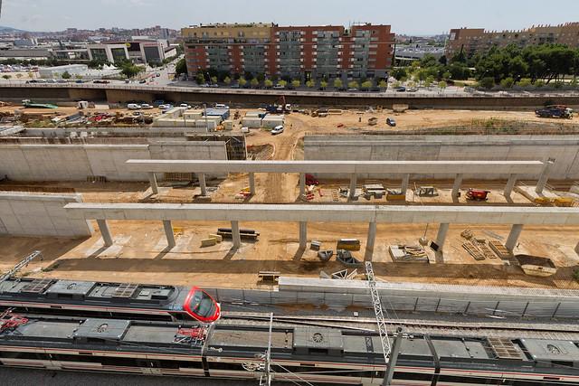 Zona de la estació de Sant Andreu - 28-07-11