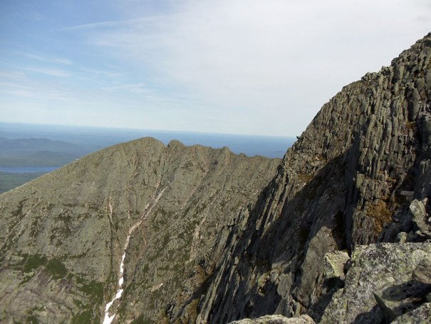 Another peek at the Katahdin Knife Edge from near the top of the Cathedral Trail.