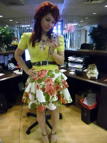 birthday dress, styled for work