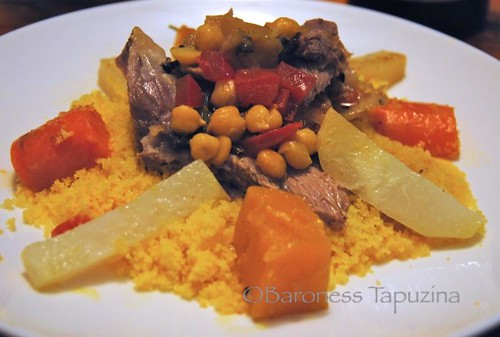 Corn Couscous with Lamb and Vegetables