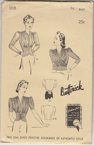 1940 Blouse Pattern