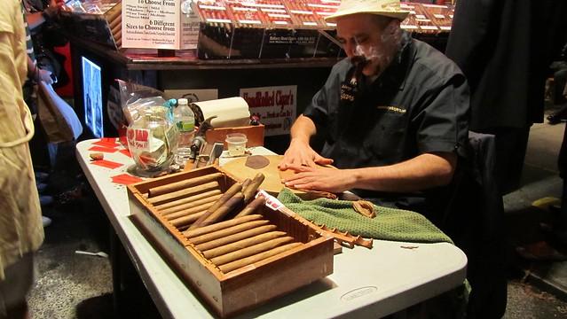 feast of san gennaro. cigar roller guy.