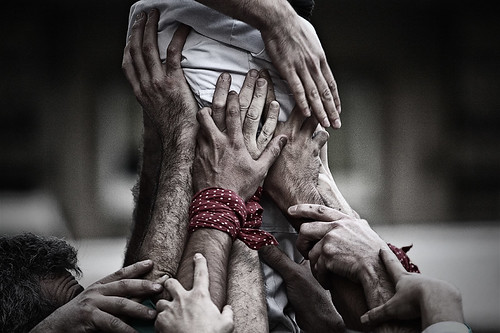 """Vamos"", by fernandoprats, Finalist of the III Photography Contest ""Torres Humanas"" by fernandoprats [YSE Last/s, #29]"