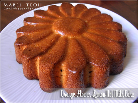 Orange Flower-Lemon Hot Milk Cake