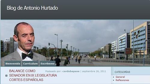 Imagen electoral del candidato al Congreso Antonio Hurtado.