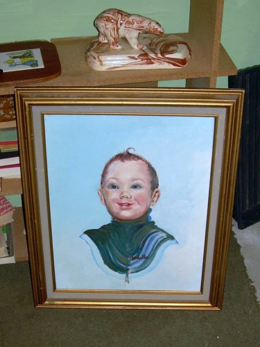 Horrifying portrait of child