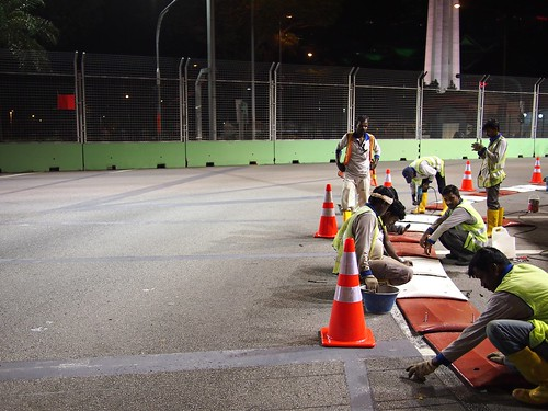 Preparing for Formula One Singapore Grand Prix Night Race