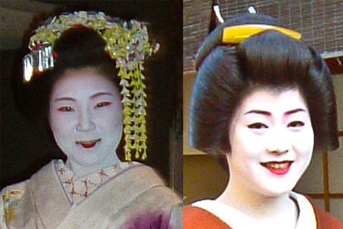 cómo distinguir entre maikos y geishas: los adornos en el pelo