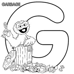 G is for Garbage - Oscar the Grouch
