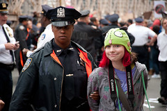 Girl in Green Hat Arrested: Occupy Wall Street...