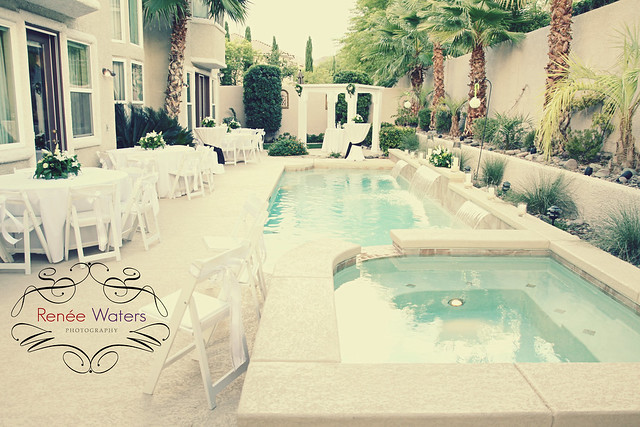 pool backyard wedding las vegas  summerlin