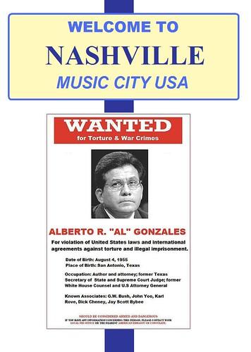 Alberto Gonzales Goes Nashville