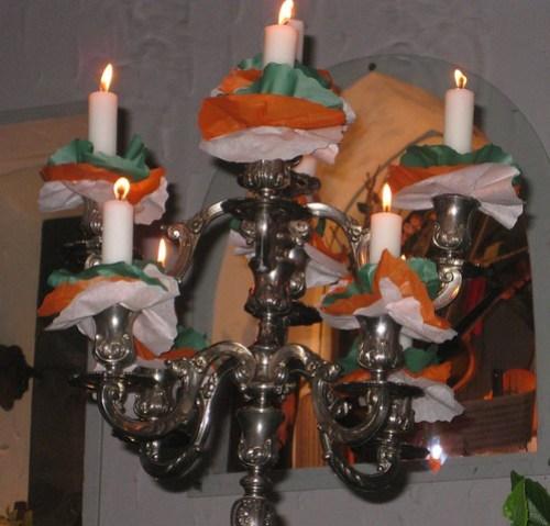 candelabros cena Amical