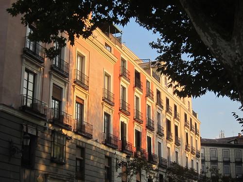 Atardecer en la Plaza de Oriente. Madrid