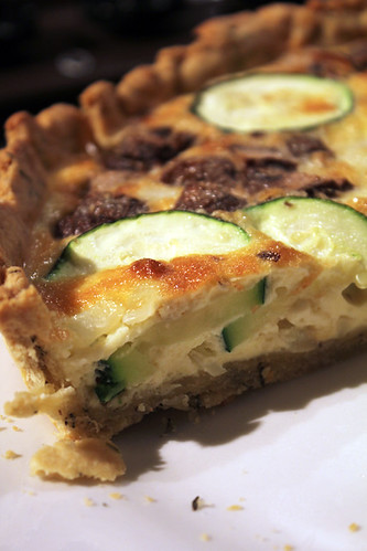 Courgette and Mushroom Quiche (1/6)