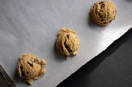 Scooped dough