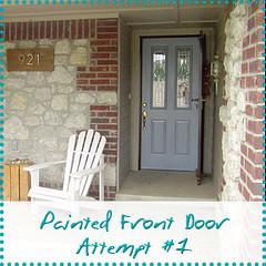 painted front door attempt 1