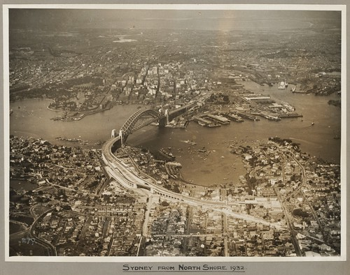 Sydney and Sydney Harbour Bridge taken from North Shore, 19 March 1932
