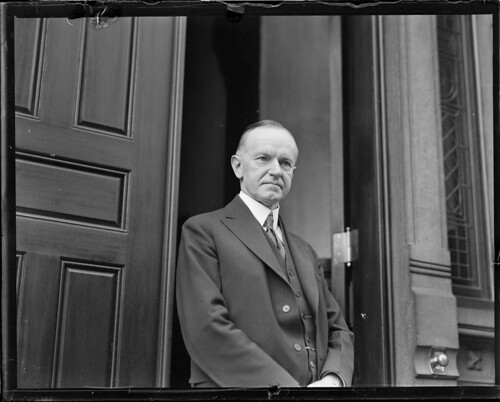 Ex-Pres. Coolidge as private citizen in Boston