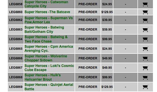 Super Heroes Set List