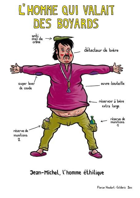 L'homme qui valait des Boyards (Jean-Michel un personnage de Florian Houdart dessiné par Gilderic)