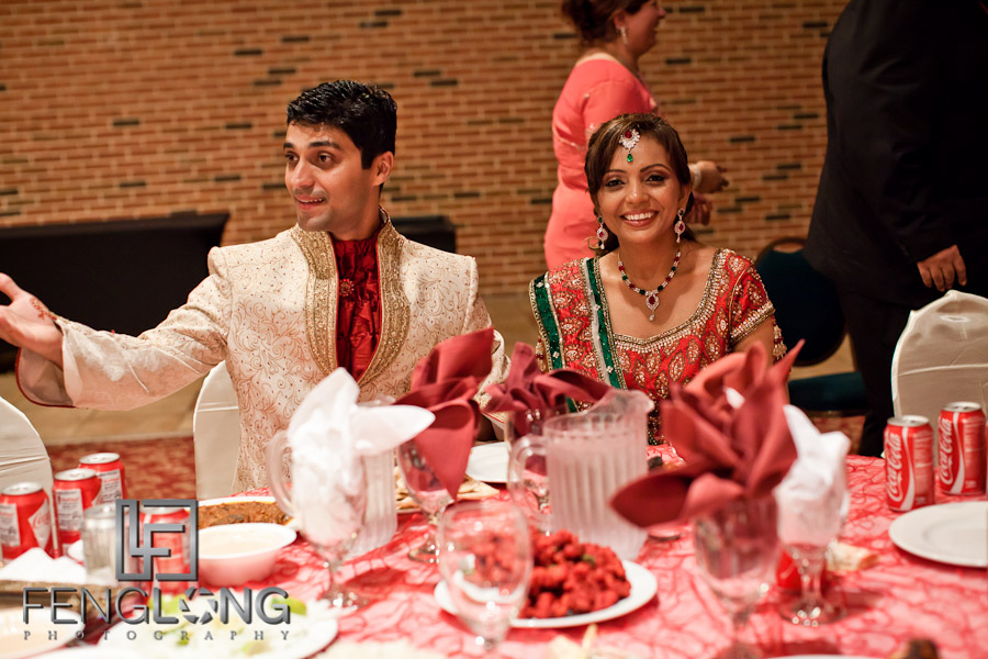Bride & Groom Eating | Shamz & Sana's Wedding Day 3 | Zyka Indian Banquet Hall Decatur | Atlanta Indian Photographer