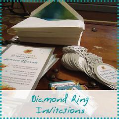 diamond ring invitations