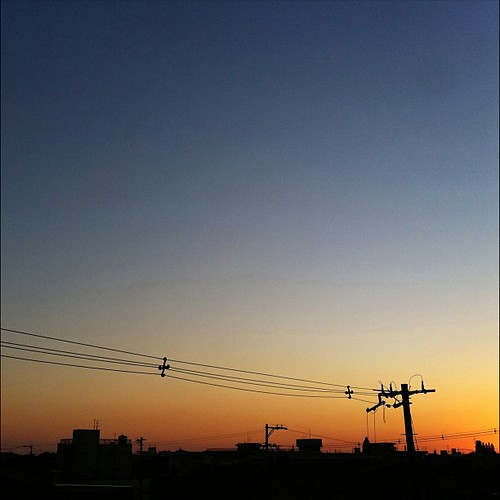マジックアワーだよ~♪  #sunset #iphonography #instagram