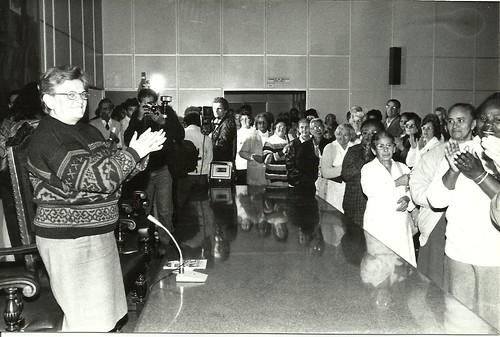 Prefeita Luiza Erundina recebe os idosos