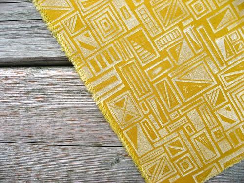 Hand-Printed Fabric!