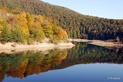 Reflejos en las aguas del pantano de Irati