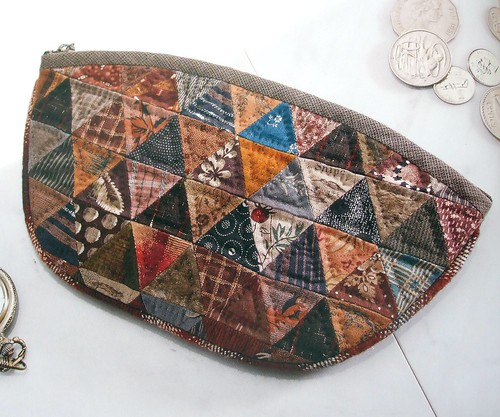 Patchwork purse by Yoko Saito