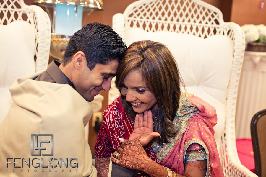 Bride and Groom with Henna on Hands | Shamz & Sana's Wedding Day 2 | Hyatt Place Atlanta Airport South | Atlanta Indian Photographer