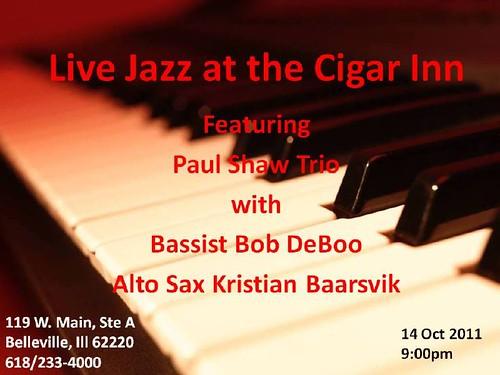 Paul Shaw Trio @ Cigar Inn Jazz Club 14 Oct 11[1]