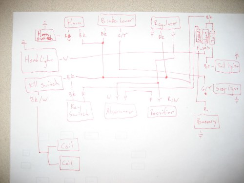 small resolution of the plan is to re do the wiring on my 1975 honda cl360 so i made up this wiring diagram