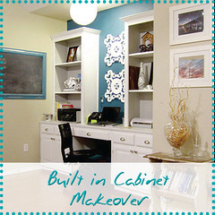 Built in Cabinet Makeover