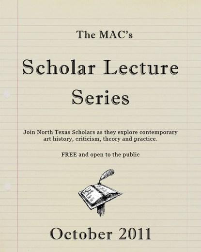 MAC Scholar Lecture Series Dallas Texas