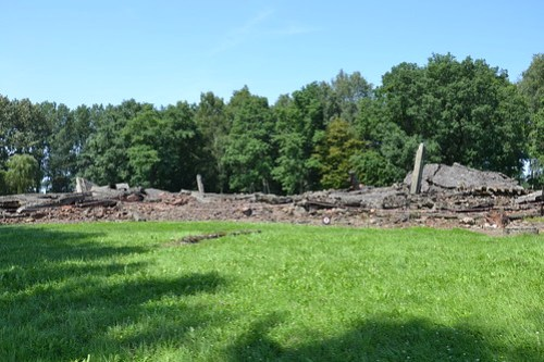 Crematorio destruido en Birkenau