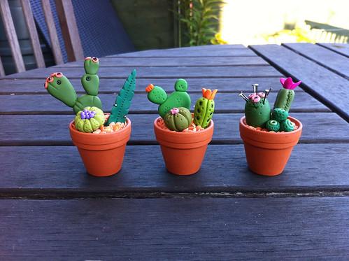Paula Pindroh inspired cactus pots