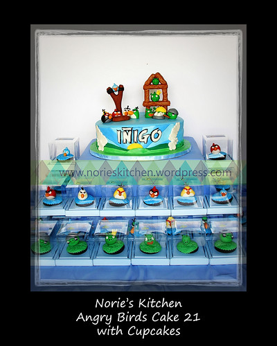 Norie's Kitchen - Angry Birds Cake 21 with Cupcakes by Norie's Kitchen