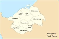 Wilayah Kota Banda Aceh, Banda Aceh, Kecamatan di Banda Aceh, Pembagian wilayah